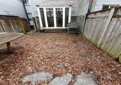 Riverdale Back Garden Spring Cleanup Before by Paul Jung Gardening Services--a Toronto Gardening Services Company